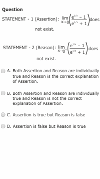 jee advanced assertion reasoning type questions